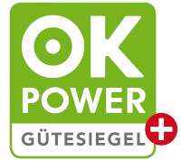 Corrently Ökostrom hat das OK-Power Plus Gütesiegel